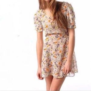 UO Pins & Needles Spring Floral Sheer Dress